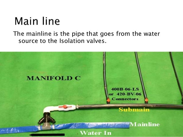 how to manually turn on control valve irrigation