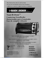 black and decker toast-r-oven broiler manual
