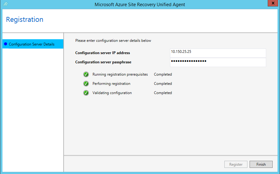 azure install mobility service manually