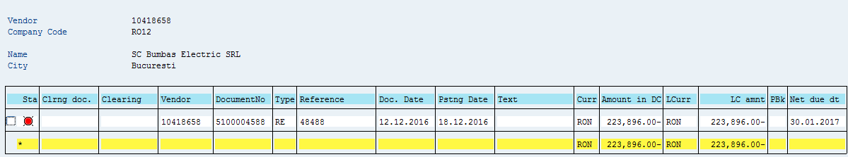 why manually clear in sap