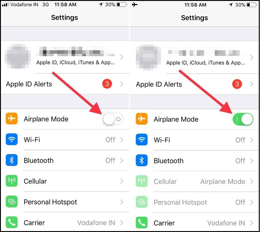 iphone 7 put in carrier settings manually
