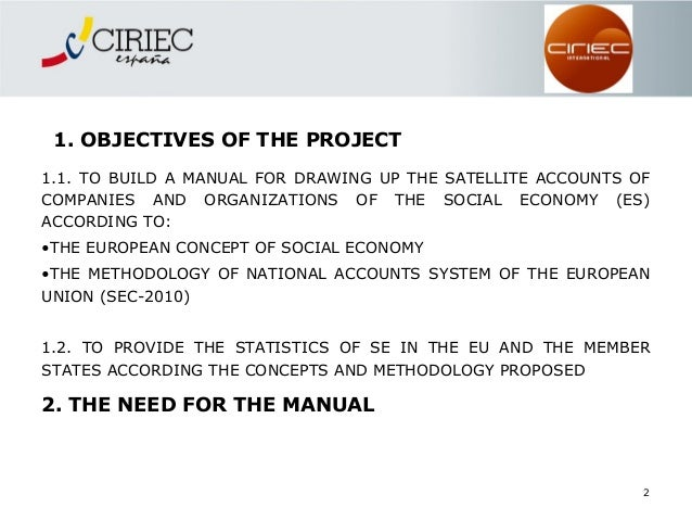 manual for drawing up the satellite accounts of companies in